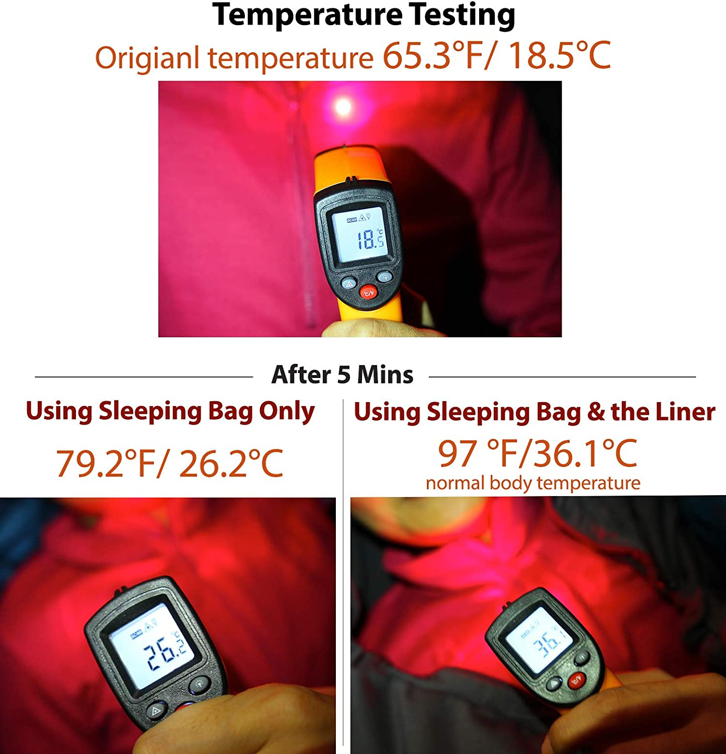 Lightweight Sleep Sack with Drawstring Hood and Stuff Sack Traveling Litume All Season Sleeping Bag Liner Adds Up to 27F Camping Compressible and Lightweight Mummy Sleeping Sack for Backpacking