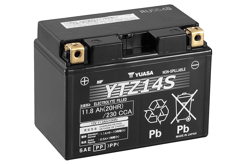12/V, 12/Ah gel de alto rendimiento Bater/ía para moto YUASA YTZ14S