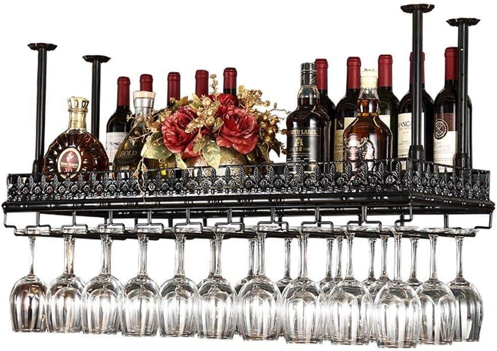 MZXI Estante para vinos, Metal Negro, portavasos, Soporte de exhibición, Independiente, Antiguo, Decoraciones para el hogar ejército de Reserva (Size : 100×35cm)
