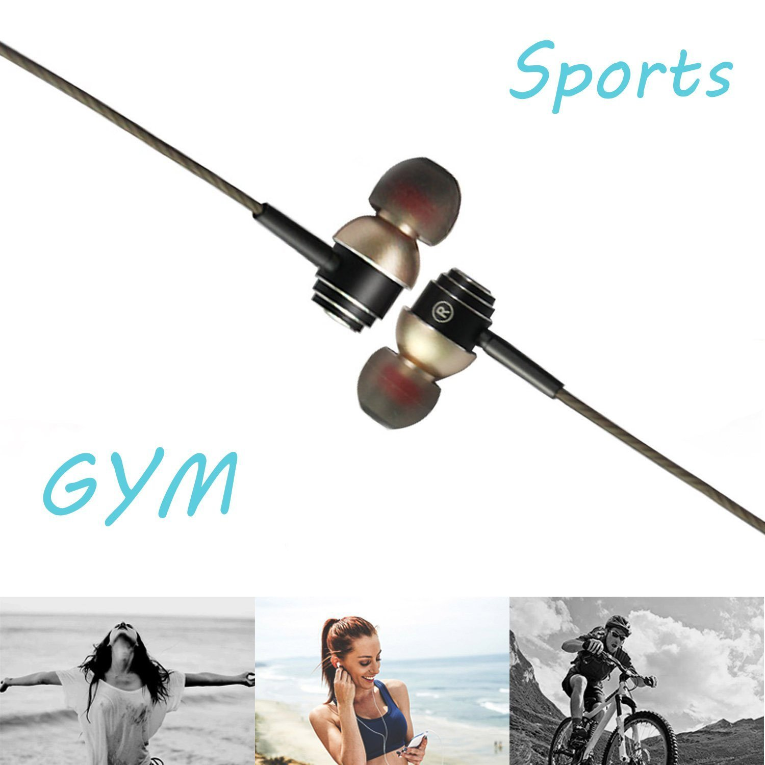 SUPNEW Earphones in Ear Headphones Earbuds with Microphone and Volume Control for iPhone Android Smartphone Tablet Laptop, 3.5mm Audio Plug Devices by SUPNEW (Image #5)