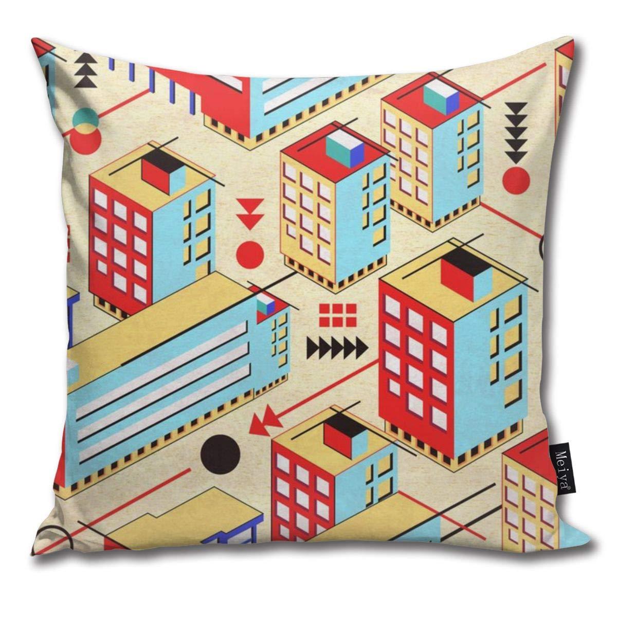 Amazon.com: Brecoy Bauhaus City Throw Pillow Cushion Cover ...