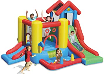 Happy Hop HappyHop 9019. Castillo Hinchable 7 en 1.: Amazon.es ...