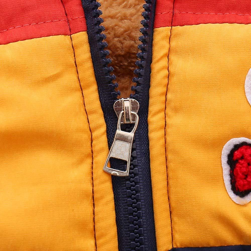 ❤ Abrigo sin Mangas de Felpa, otoño Invierno cálido niños bebés niños Prendas de Vestir Exteriores Oso de Dibujos Animados con Capucha Ropa de Abrigo ...
