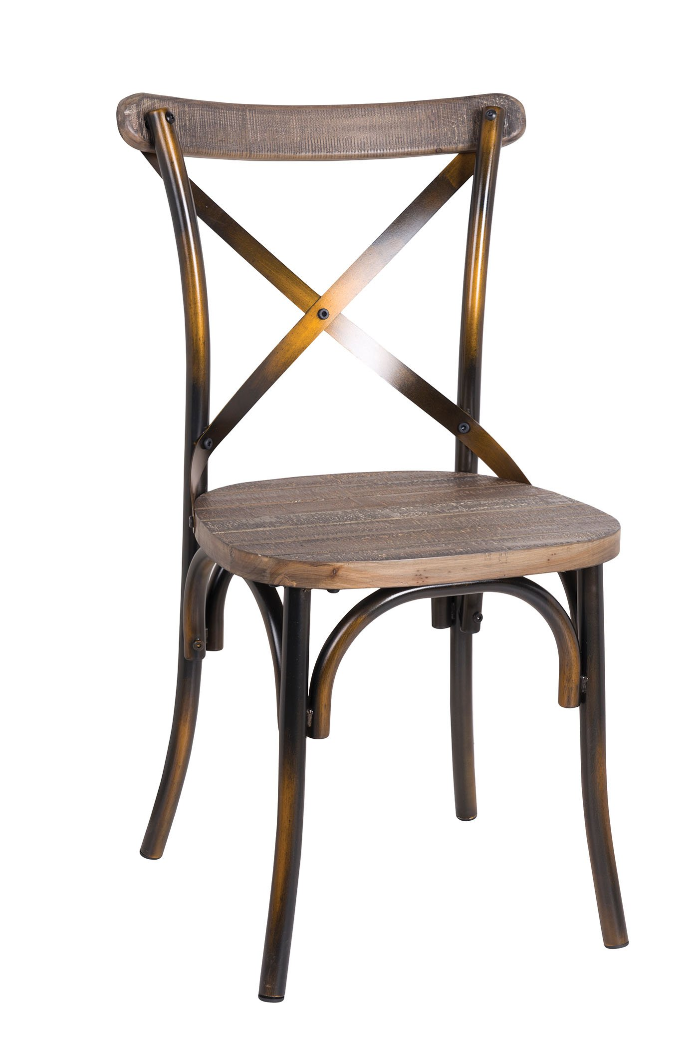 Acme Furniture 73077 1 Piece Zaire Side Chair, Walnut & Antique Copper