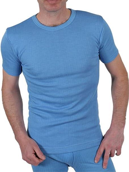 Calidad Hombre Térmico Top De Manga Corta / Camiseta / Ropa interior - disponible en blanco / Azul / Gris carbón y en Talla S / Mediana / Grande / Xl / XX ...