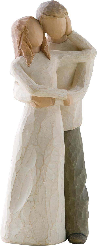 Multicolor Resina Enesco Figurillas Decorativas con dise/ño Willow Tree 8 x 1.1 cm