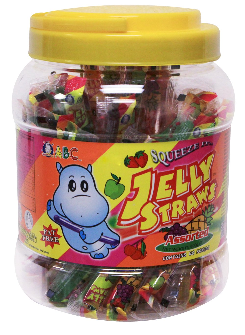 """ABC Fat free """"Squeeze it"""" Fruitery Fruit Jelly straws -Assorted (31.7 oz)"""