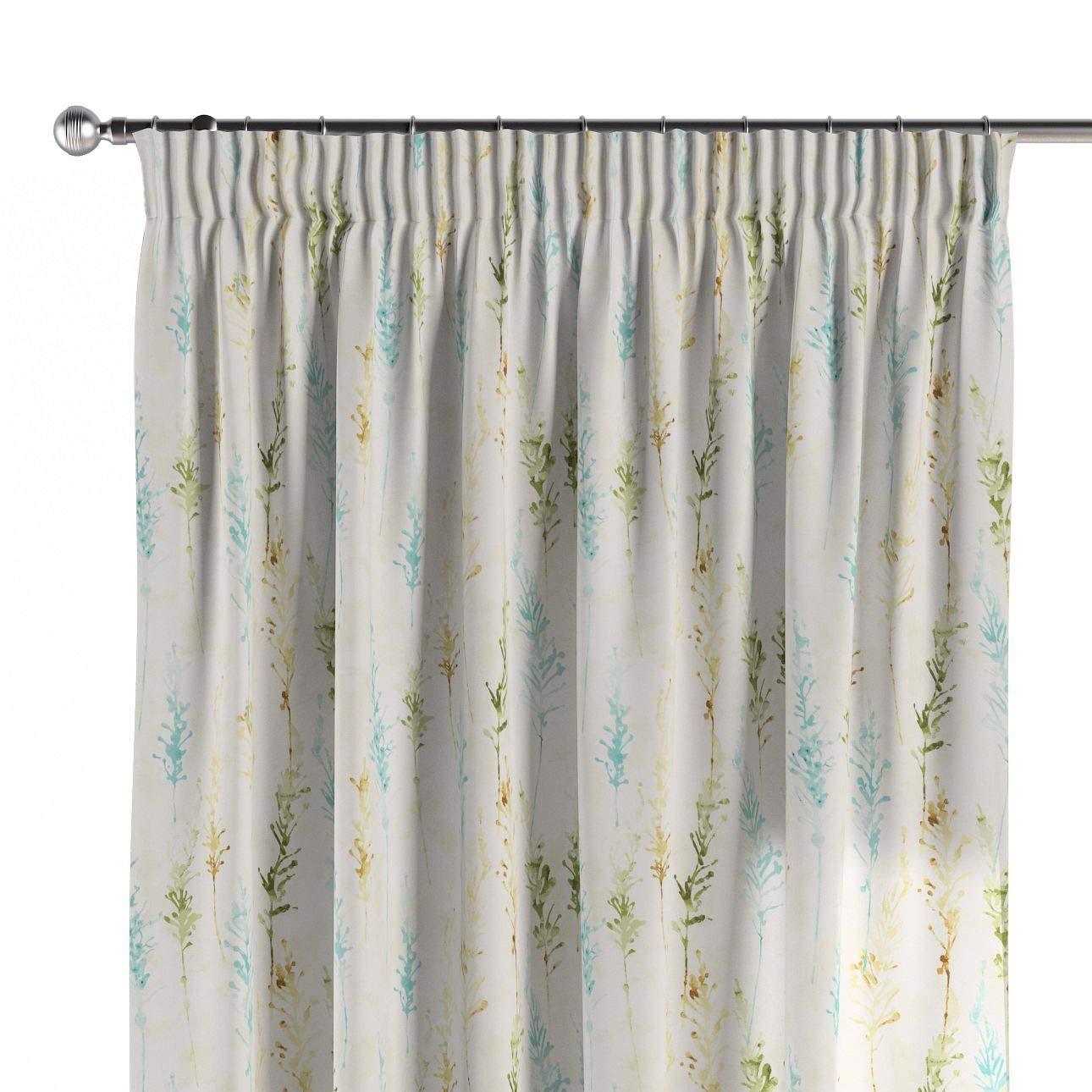 Dekoria Vorhang mit Kräuselband Dekoschal Blickdicht 1 Stck. 130 × 260 cm türkis-grün Maßanfertigung möglich