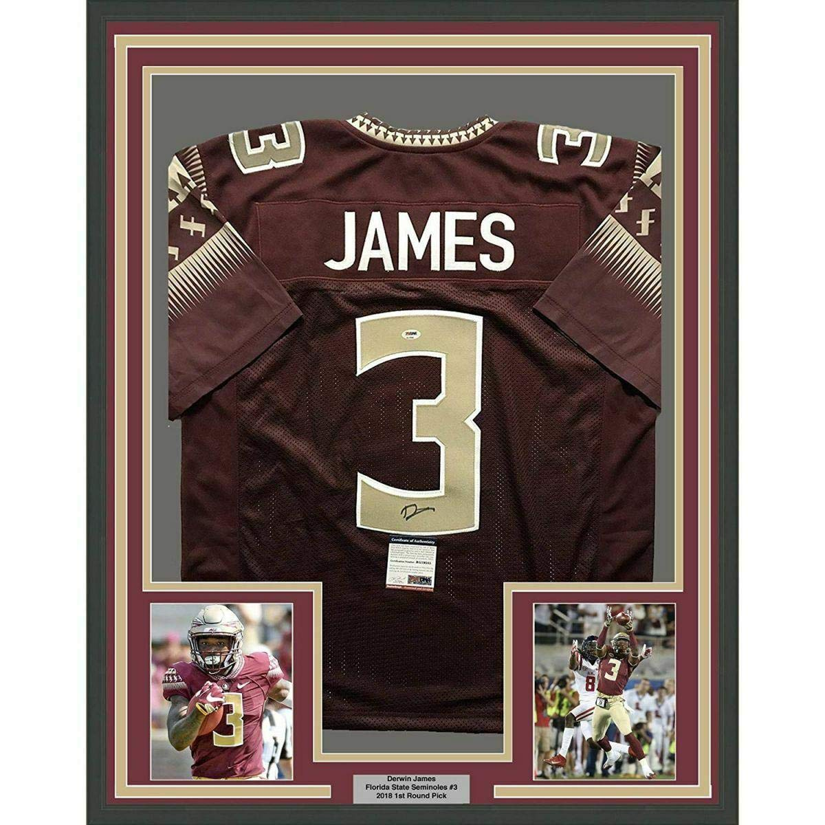 low priced 1f850 1df86 Autographed Derwin James Jersey - FRAMED 33x42 Red COA - PSA ...