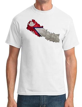Nepal Flag Map - DTG Print Kids T-Shirt: Amazon.co.uk: Clothing