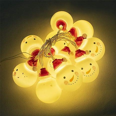 Amazon.com: Adorno de luz de árbol de Navidad, 10 luces LED ...