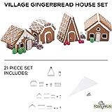 Fox Run Christmas Village Gingerbread House Cookie Cutter Set, 22 Piece, Stainless Steel