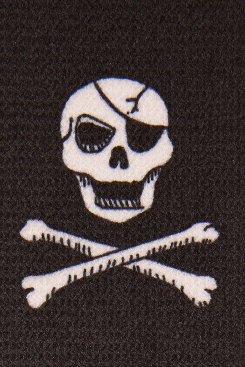 Skull Crossbone Pirate Ship Black Braces Trouser Braces Mens Suspenders