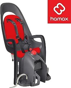 Hamax Caress Rear Child Bike Seat - Rack Mount, Ultra-Shock Absorbing, Adjustable to Fit Kids (Baby Through Toddler) 9 mo - 48.5 lb.