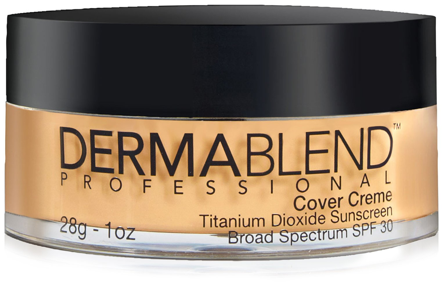 Dermablend Cover Creme High Coverage Foundation with SPF 30, 40N Golden Beige, 1 Oz.