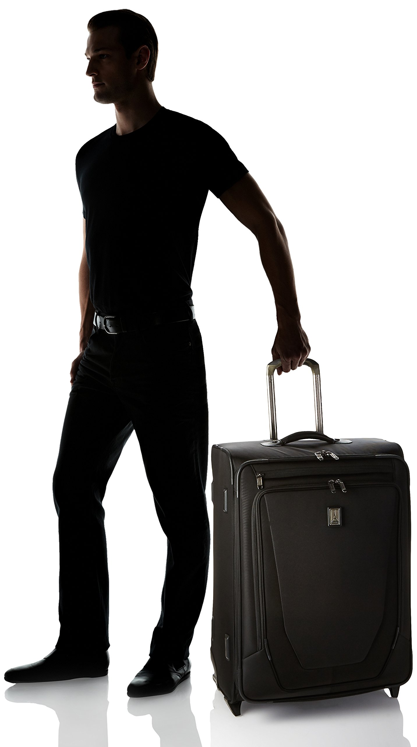 Travelpro Crew 11 Expandable Rollaboard Wheeled Suiter Suitcase, Black by Travelpro (Image #5)