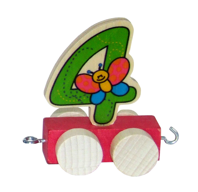 5 cm Zahl 1 Waggon f/ür Geburtstagszug Hess Holzspielzeug 00441 ca