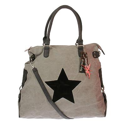 e4faad7c48e2a Kossberg Damen Schultertasche Umhängetasche Stern großer Shopper (Modell  1)  Amazon.de  Schuhe   Handtaschen