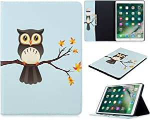SZCINSEN Pattern Flip Protection PU Leather Wallet Tablet Case for iPad Pro 10.5 2017/2019 Magnetic Ultra-Thin Anti-Drop Bracket Card Slot Case (Color : Eagle on The Tree)