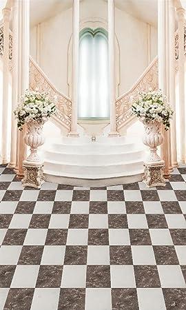 Interior elegante boda Photography Fondo Flores Jarrón Paso Escaleras Pasillo columna fotográfico fondos de cabina Digital 300 x 500 cm: Amazon.es: Electrónica