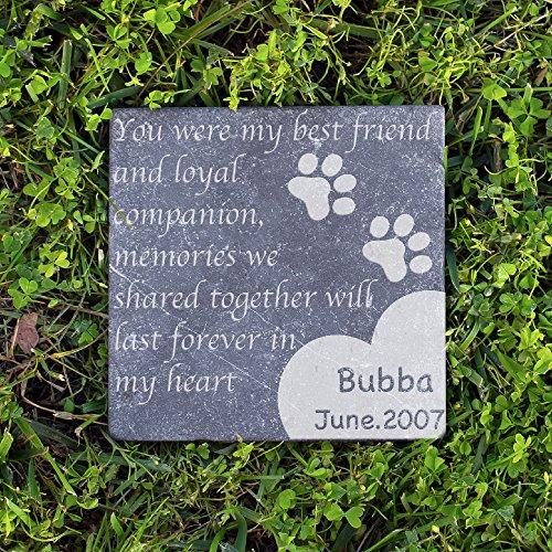 Personalized Dog Memorial Customized Dog Grave Marker Custom Headstone - DSG#5 - Marquina Dark