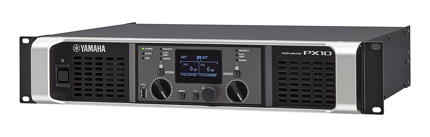 Amazon.com: Yamaha PX10 Dual Channel 2x1200W Lightweight Power Amplifier w/ DSP: Musical Instruments