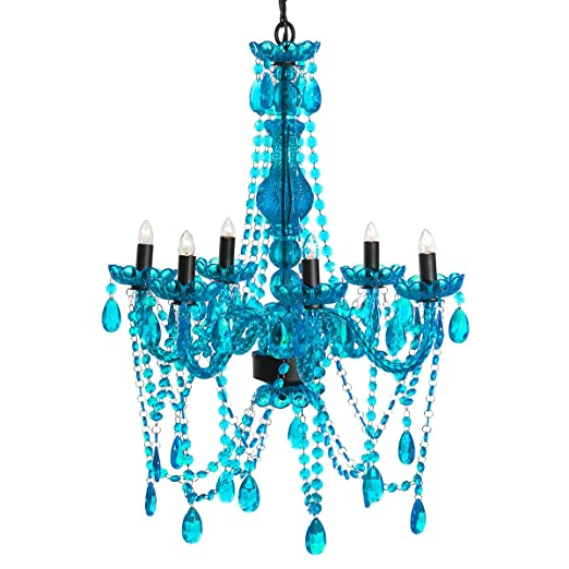 amazoncom 3c4g chandelier turquoise home kitchen - Turquoise Chandelier Light