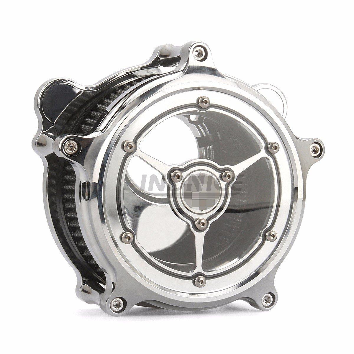chrome see through RSD clarity Air filters for harley FLHTCU FLHR air filter flhx 08-16,air filter softail 2016-2017   B07CNPRFR2