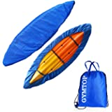 GYMTOP 7.8-18ft Waterproof Kayak Canoe Cover-Storage Dust Cover UV Protection Sunblock Shield for Fishing Boat/Kayak…