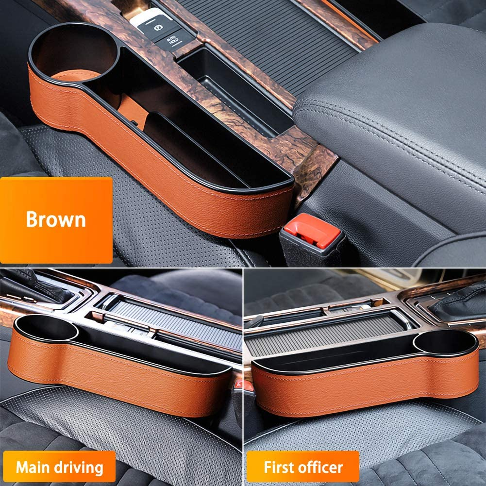 Black, Left Universal Console Side Pocket Car Seat Catcher Car Organizer,Car Seat Side Drop Organizer ViCiCA Car Seat Gap Filler