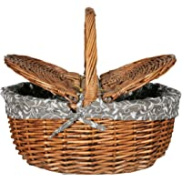 Orjinal El Yapımı Hasır Örgülü Piknik Sepeti