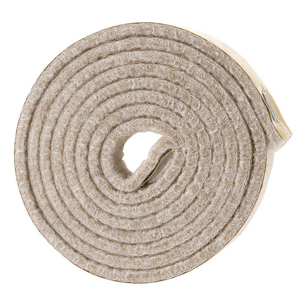 TOOGOO(R) Self-Stick Heavy Duty Felt Strip Roll for Hard Surfaces (1/2 inch x 60 inch), Creamy-White by TOOGOO(R) (Image #1)