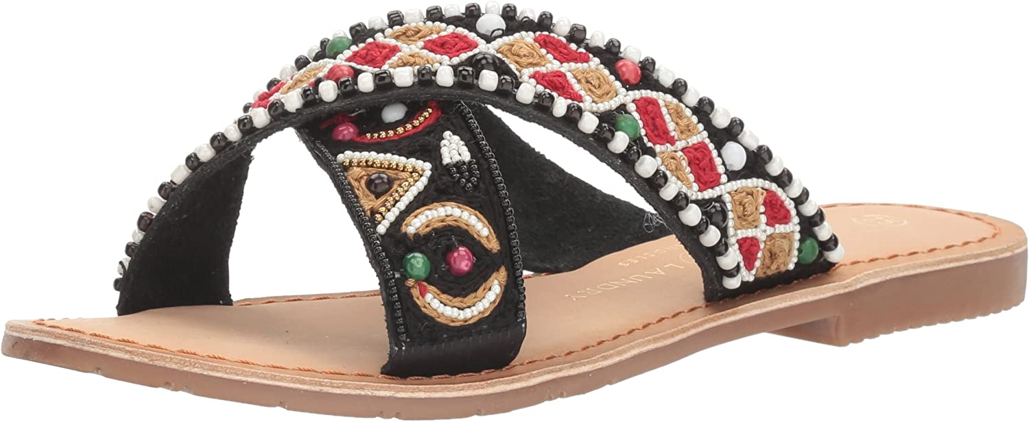 Purfect Beaded Slide Sandal