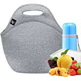 Neoprene Lunch Bag,LOVAC Thick Insulated Lunch Bag - Durable & Waterproof Lunch Tote With Zipper For Outdoor Travel Work Scho