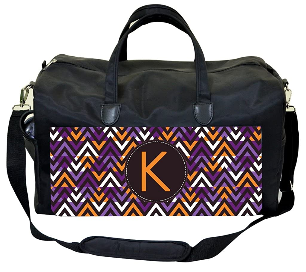 Geometric Chevrons Customizable Weekender Bag