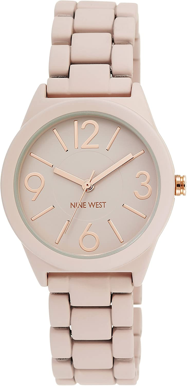 Nine West Women's NW/1812 Rubberized Bracelet Watch