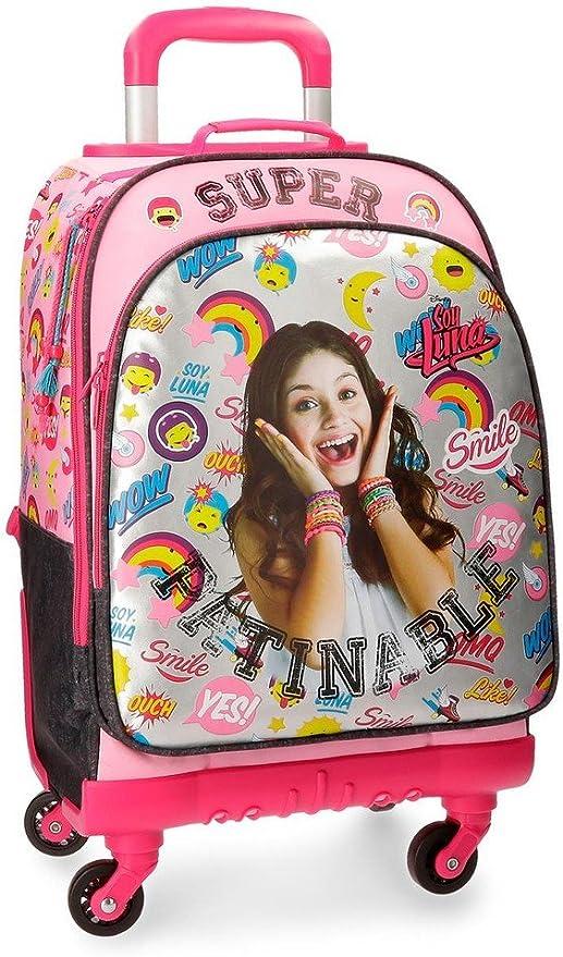 Disney Soy Luna Smile Mochila Escolar, 44 cm, 30.49 Litros, Varios colores: Amazon.es: Equipaje