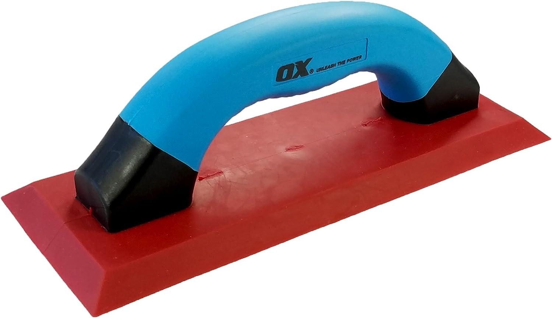 OX Soft Grip Grout Float 100 x 240mm Pro Tile Grout Float Heavy Duty Rubber Grouting Float Multicolour