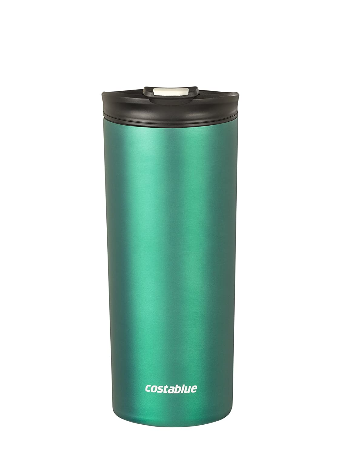Costablue Vacuum Insulated Stainless Steel Travel mug , 16 Oz Easy to clean and leak proof lid, Color Matte Green