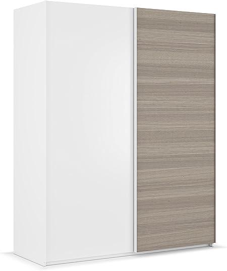 Habitdesign ARC155BO - Armario ropero Dos Puertas correderas, Acabado en Blanco Brillo y Fresno, Medidas: 150x200x60 cm de Fondo: Amazon.es: Hogar