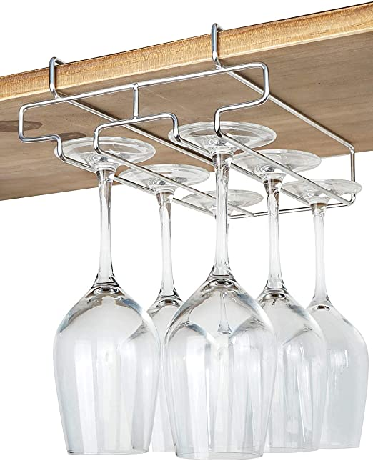 Wood Wine Glass Rack Bar Kitchen Dining Wall mount DIY Creative Cups Holder New