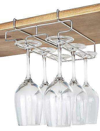 Amazoncom Bafvt Wine Glass Holder 2 Rows Wine Glass Rack Under