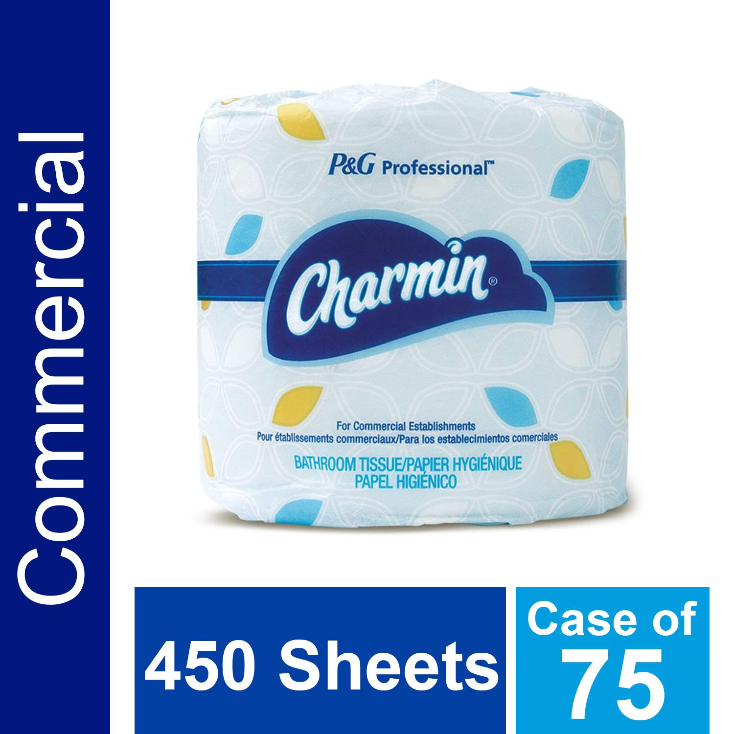 Bulk Toilet Paper for Businesses by Charmin Professional, Individually Wrapped for Commercial Use, 2-ply Standard Roll with 450 Sheets/Roll (Case of 75) by P&G Professional