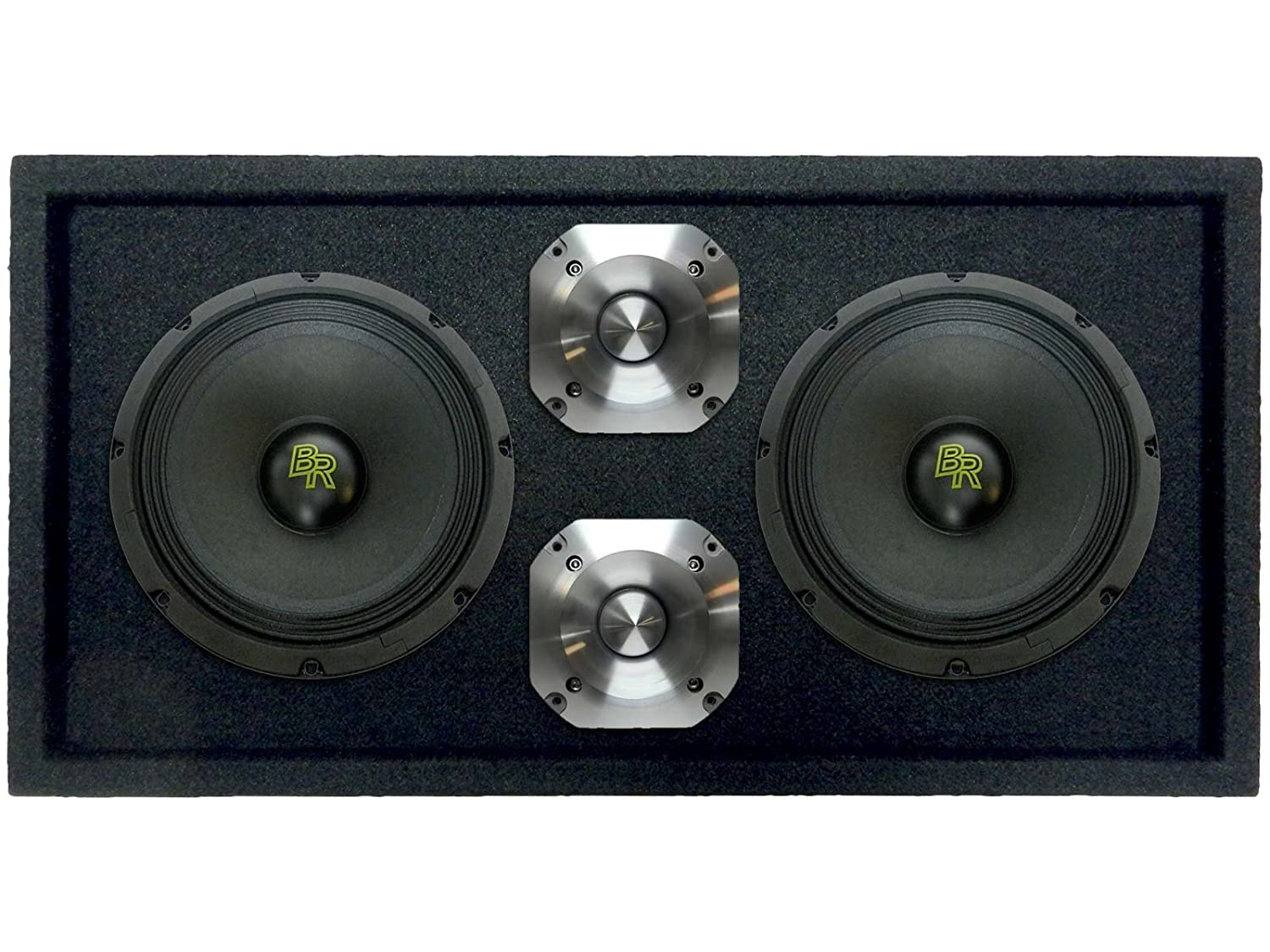 Bass Rockers Loaded 1200 Watts Speaker Pod Box Two 8 Dual 4 Ohm Subwoofer Wiring 3 Subs Also 2 Sub To A 300w Midrange Speakers And 15 Bullet Tweeters 1200w Total Power Handling Brch8 2brm8lp Brcp 24