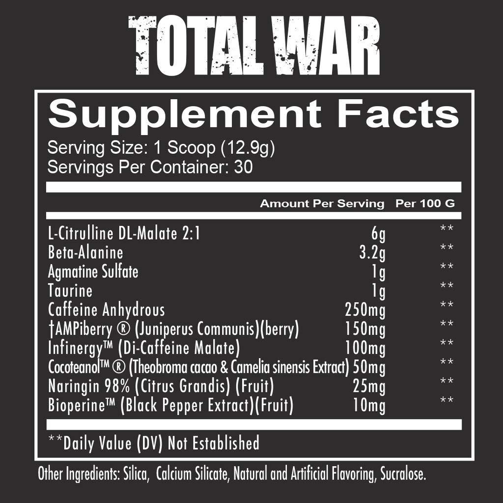 Total War PreWorkout Rainbow Candy (30 Servings)