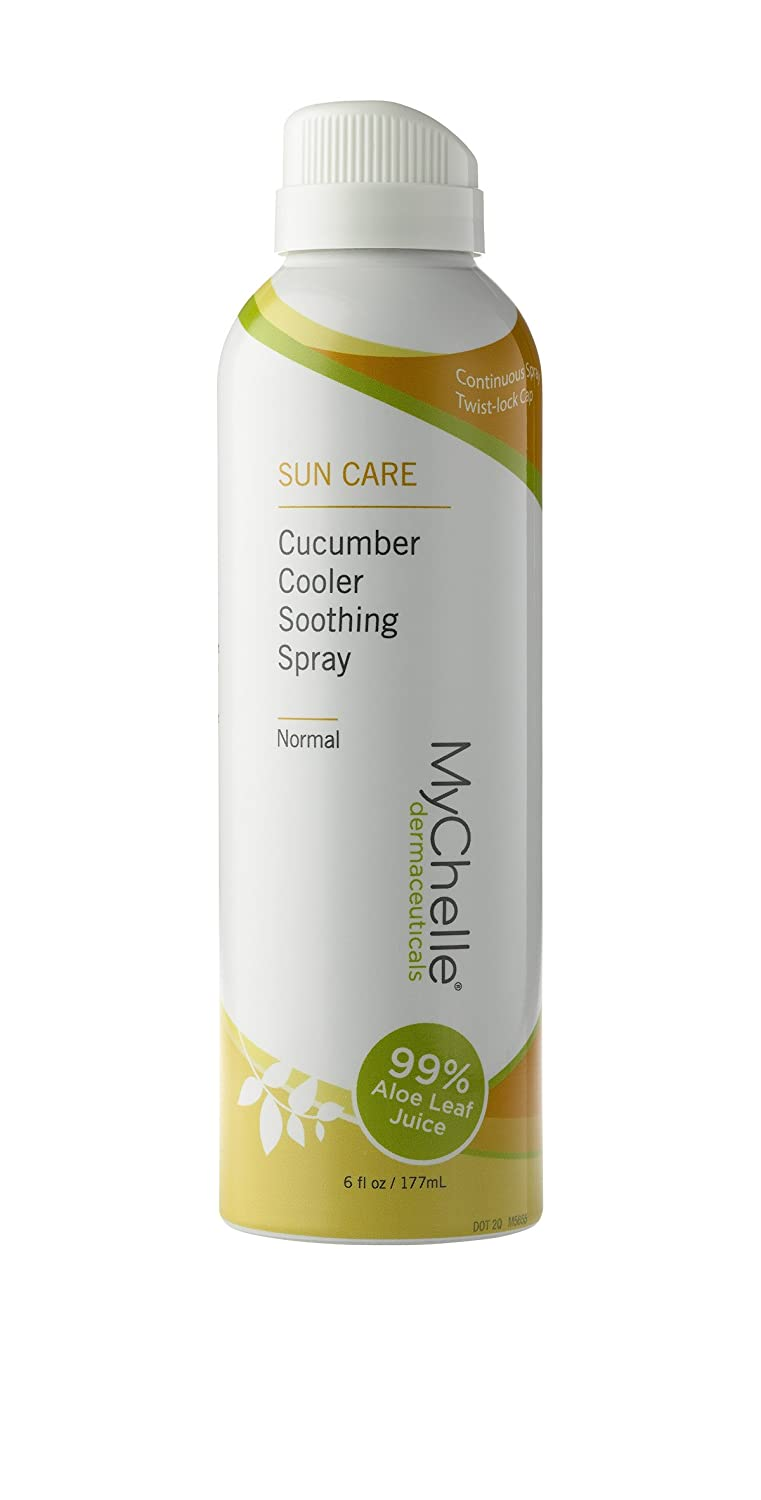 MyChelle Cucumber Cooler Soothing Spray, 99% Aloe Leaf Juice And Cucumber Extract After Sun Care for All Skin Types, 6 fl oz