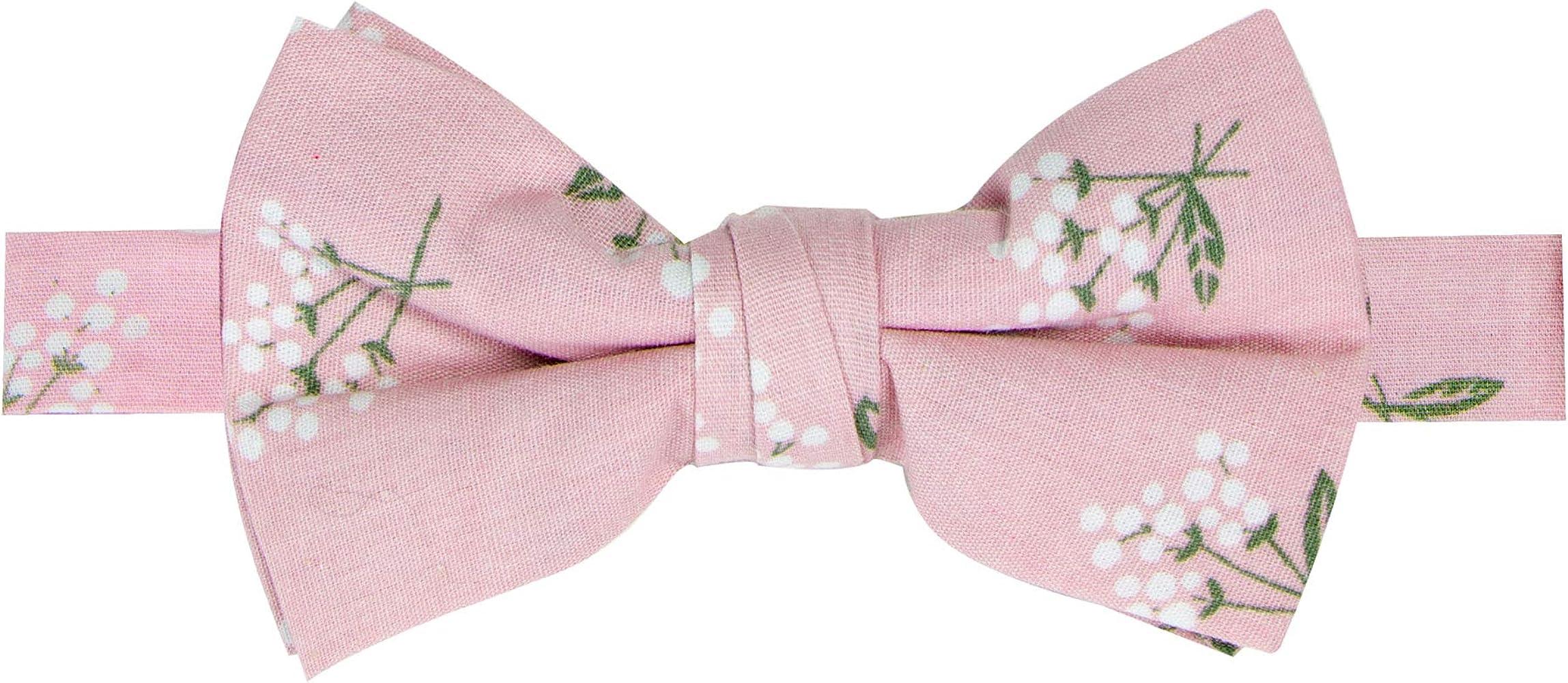 Magenta With Floral Kid\u2019s Clip On Bow Tie
