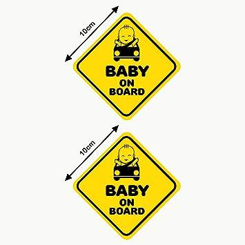 Sticker voiture Baby on Board 15cmx9cm bébé a bord