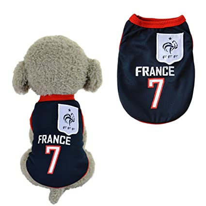 90ef2caca SymbolLife Dog Clothes Football T-shirt Dogs Costume National Soccer World  Cup FIFA Jersey for