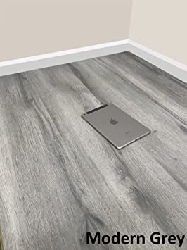 Grandismo Luxury Grey Wood Laminate Flooring Sold Per 1m2 V Grooved High Quality Embossed Click System